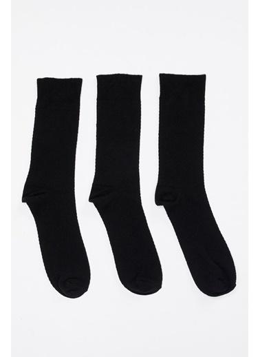 DeFacto Soket Çorap 3'lü Siyah
